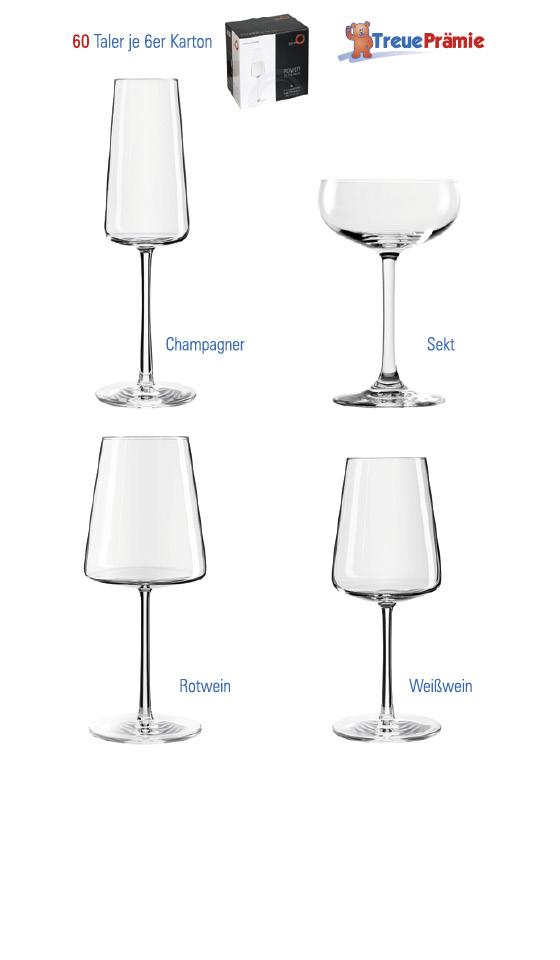 Taletrprämien-Gläser